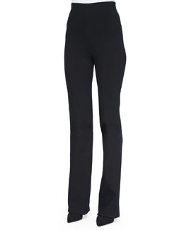 High-Waisted Ultra-Stretch Crepe Pants