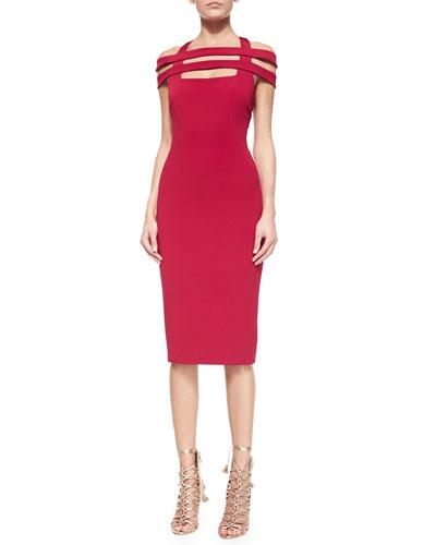Strappy Cutout Sheath Dress