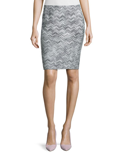 Zigzag Short Pencil Skirt