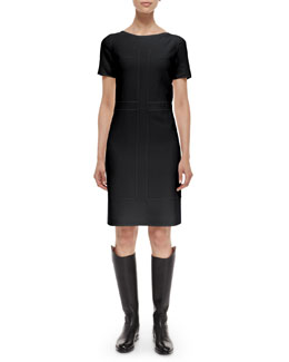 Raised-Seam Pocket Woven Dress