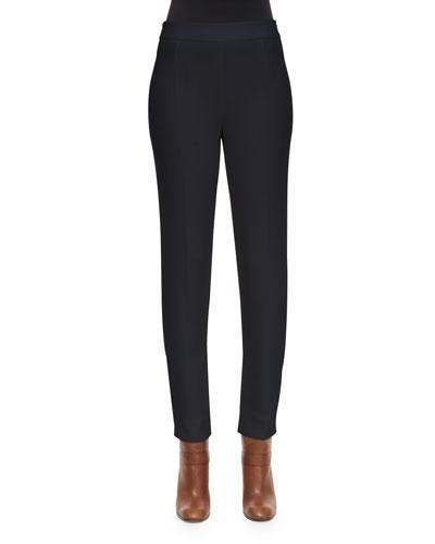 Stretch Double-Faced Gabardine Pants