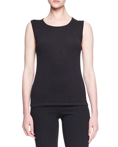 Sleeveless Knit Cashmere/Silk Shell