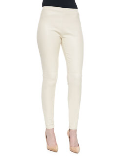 Eleanora Stretch Leather Pants