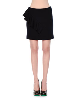 Asymmetric Ruffle Mini Skirt