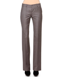 Slight-Flared Cashmere-Blend Pants