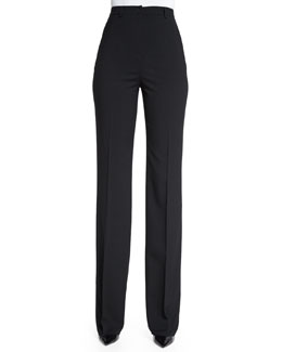 Light Wool Suiting Pants, Black (Nero)