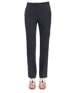 Rope-Seamed Straight-Leg Trouser