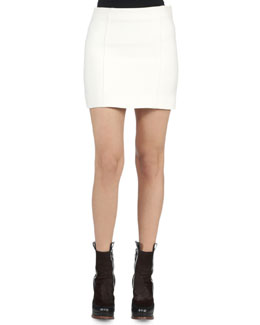 Seamed Gazar Mini Skirt