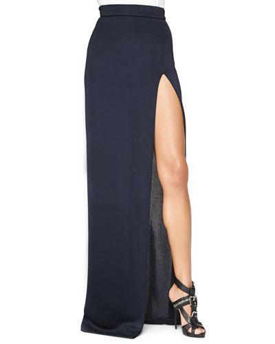 High-Slit Full-Length Skirt
