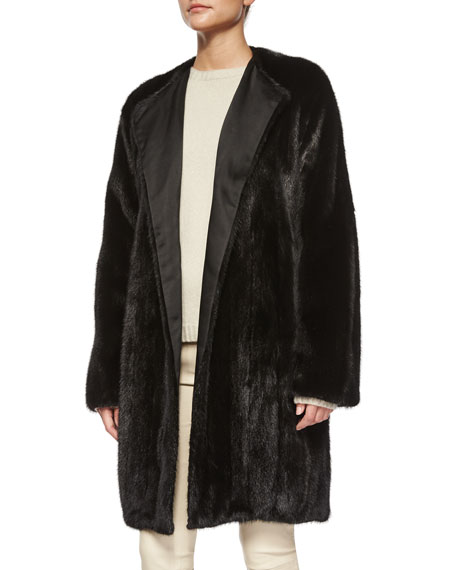 Narston Open-Front Mink Coat
