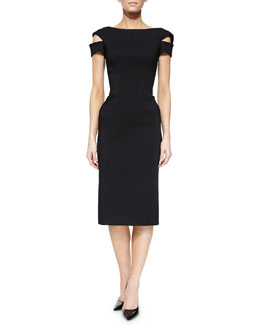 Off-the-Shoulder Cocktail Sheath Dress