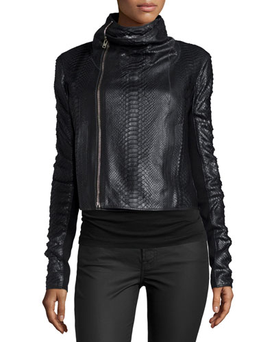 Python Biker Jacket, Black