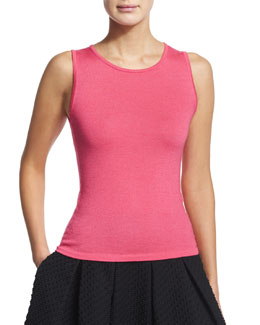 Sleeveless Cashmere/Silk Shell, Amaranth