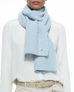 Rougemont Cashmere Knit Scarf, Ether Beautiful