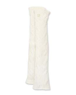 Mckinley Fingerless Cable-Knit Cashmere Gloves