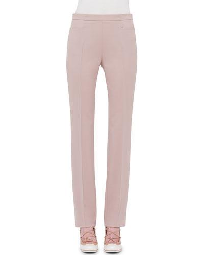 Francoise Straight-Leg Pants, Cord