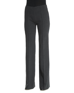 Stretch-Wool Flared Trousers