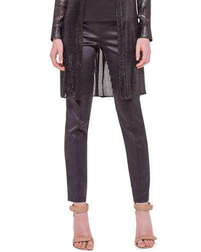 Melissa Silk Marocain Pants, Black