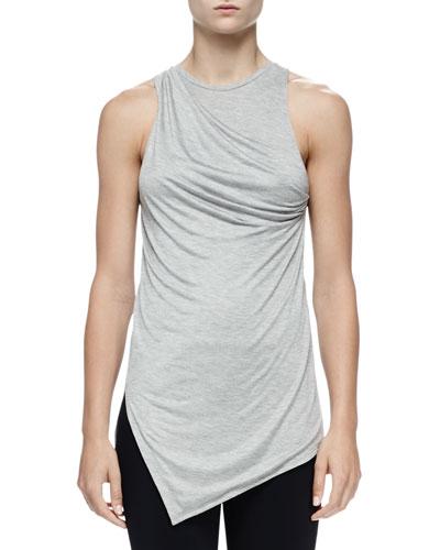 Asymmetric Silk Jersey Twist Tank