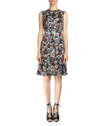 Jelena Floral-Print Ponte Dress
