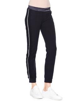Striped Cotton Sweatpants