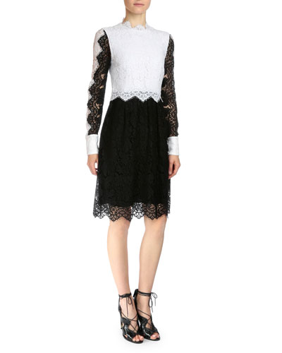 Luisa Colorblock Lace Dress