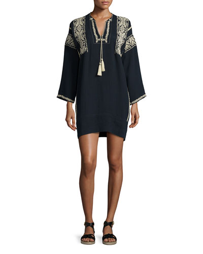 Vinny Embroidered Tassel Tunic