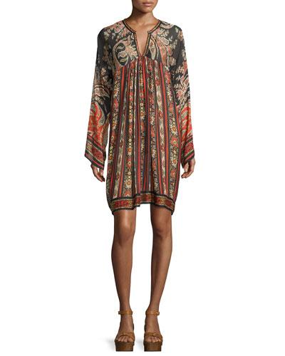 Tresha Paisley-Print Tunic Dress