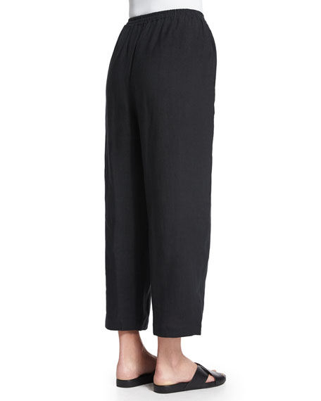 Japanese Cropped Trousers, Black