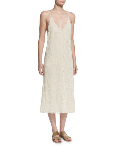 Tatan Embroidered Camisole Dress, Off White