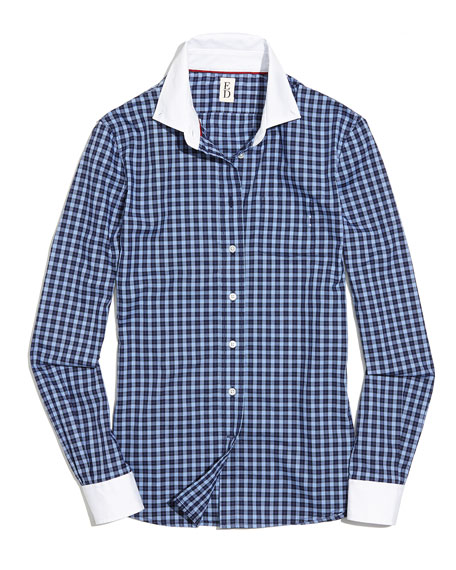 Plaid Button-Down Shirt, Blue