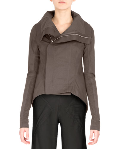 Nasaka Shawl-Collar Biker Jacket, Dark Dust