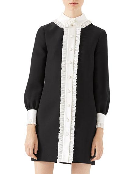 Wool-Silk Contrast Dress