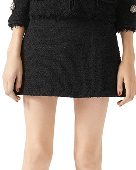 Tweed A-Line Mini Skirt