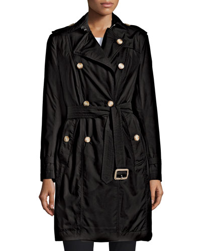 Classic Nylon Trenchcoat, Black
