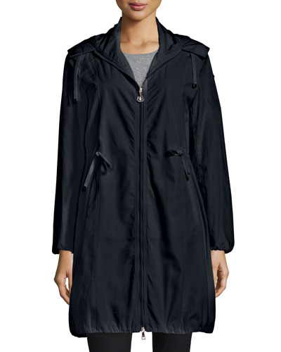 Neombre Drawstring Coat, Black