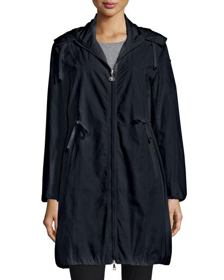 Neombre Drawstring Coat, Black