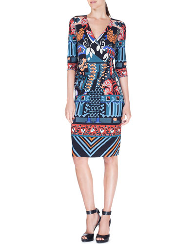 Matisse Surplice Jersey Dress, Blue
