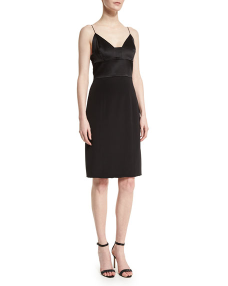 103a4e834b Narciso Rodriguez Spaghetti-Strap Silk Cocktail Dress