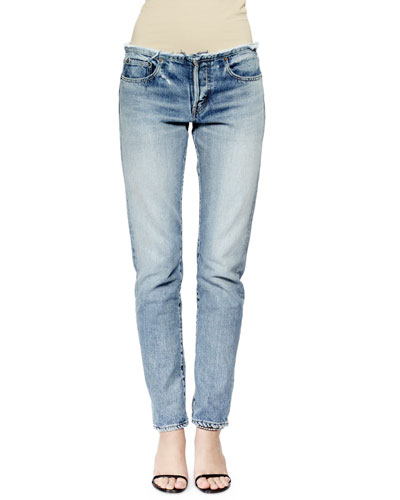 Straight-Leg Denim Boyfriend Jeans