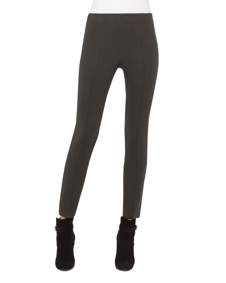 Melissa Techno Slim-Leg Pants, Turtle