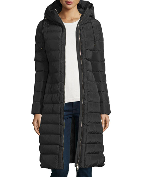 Moncler Imin Long Quilted Puffer Coat, Black