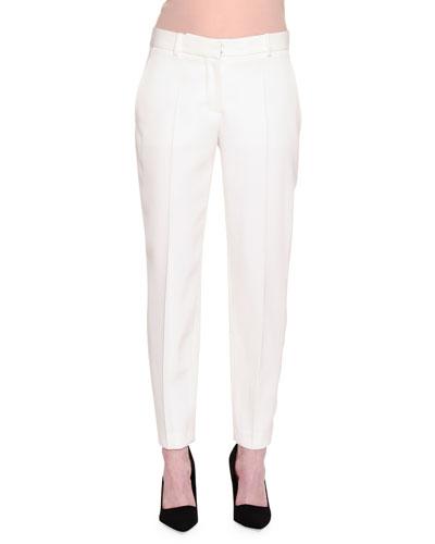 Straight-Leg Tuxedo Pants, Ivory