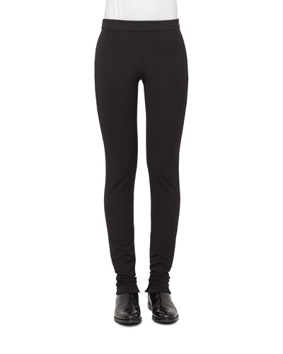 Fria Stretch-Knit Skinny Pants, Black
