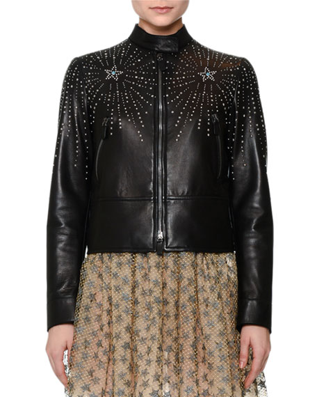 Valentino studded jacket Cheap Finishline Low Price Fee Shipping Online Clearance Outlet Big Discount Cheap Sale Footlocker Finishline EOgtnbfBL7