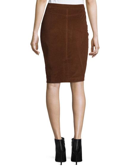 Corduroy Pencil Skirt, Vicuna