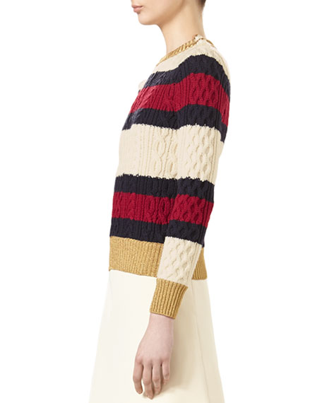 f96d11b163 Gucci Striped Wool Knit Top