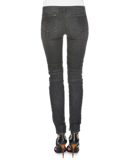 Denim Moto Jeans, Black