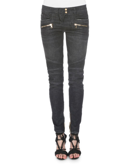 Denim Moto Jeans, Black