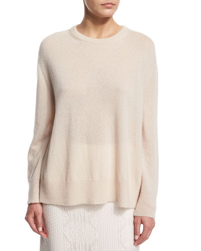 Lightweight Swing Sweater, Ivory